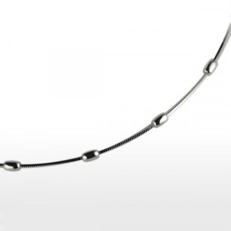 Collier Argent QDR 7 OLIVES 42cm