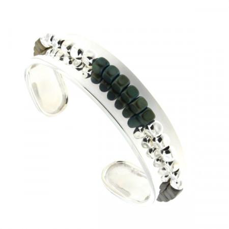 Bracelet Argent MASSAÏ JONC 15 MM