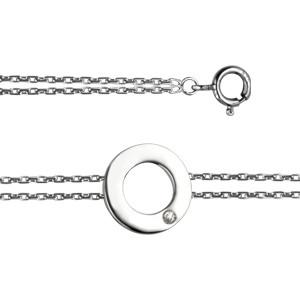 """Bracelet """"ECLAT"""" Argent  Diamant Cercle"""