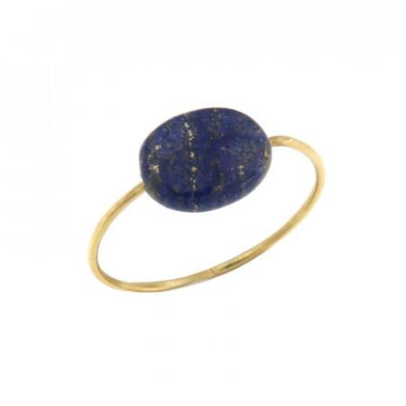 Bague fil lapis lazuli