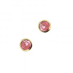Boucles d'oreilles Or 375 °°° CLOS OZ 3mm Rose - Poussette