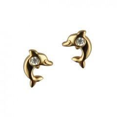 Boucle d oreille dauphin en Or pour enfant