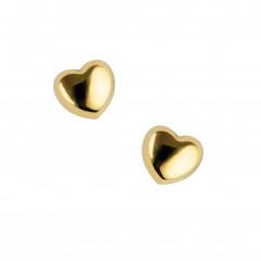 Boucle d oreille coeur Or jaune 9K