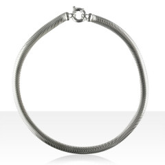 Collier Argent SERPENT PLAT 8mm