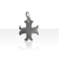 Pendentif Argent CROIX CATHARE GM