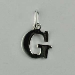 "Pendentif Argent ""G"""