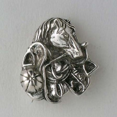 Broche Argent TETE CHEVAL/ACCESS EQUIT