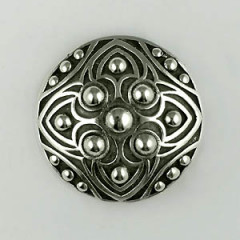 Broche Argent RONDE 9 BOULES