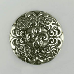 Broche Argent STELE RONDE