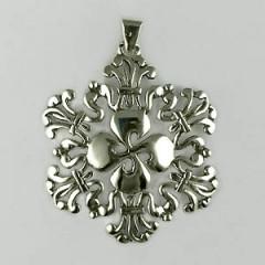Médaille Argent TREFLE MASSIF FILIGRANE