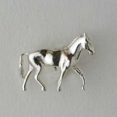 Pin's Argent CHEVAL PM