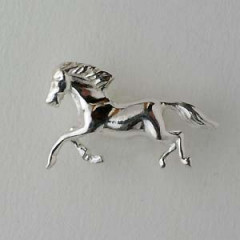 Pin's Argent CHEVAL GM