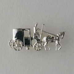 Pin's Argent CALECHE ATTELEE