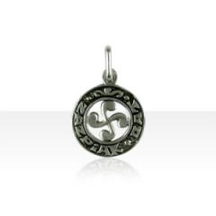 Médaille Argent Croix BASQUE ZAZPIAK BAT