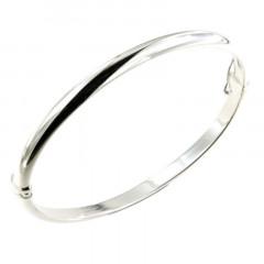 Bracelet Argt 1/2 Jonc 5 60x53mm - fil demi jonc 5mm