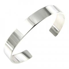 Bracelet Argent Jonc PLAK 10mm