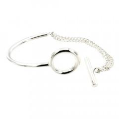 Bracelet Argent EPURE SA Barrette  FR35 - GL80 Double