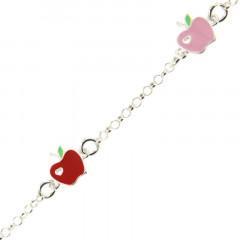 Bracelet Argent ENFANT 3 Pommes  16+2cm