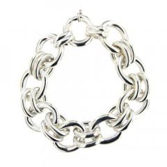 Bracelet Argent OVALE-HL MI EMM Double - L21cm