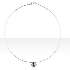 Collier Argent OMEGA 10/COQUILLE ST JACQUES