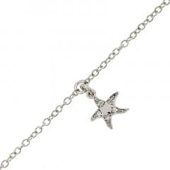 Bracelet de cheville Argent ETOILE de MER 22+3cm