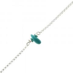 Bracelet Argent MASSAÏ/2  1 Chips Turquoise 16+2.5cm
