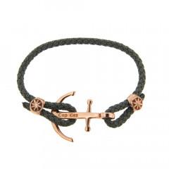 Bracelet Argent CAP COZ Ancre Rose DENIM Gris