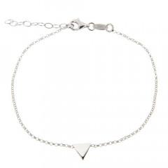Bracelet Argent Triangle uni 16+2cm
