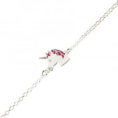 Bracelet Argent ENFANT Licorne 14+2cm