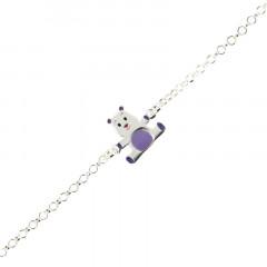 Bracelet Argent ENFANT Nounours 14+2cm