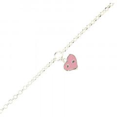 Bracelet Argent ENFANT PP coeur rose 16+2cm