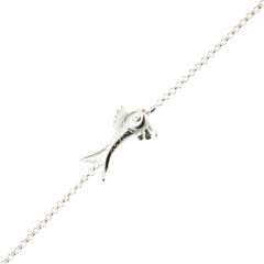 Bracelet Argent LA MER Poisson / Mini jaseron 18+2,5cm