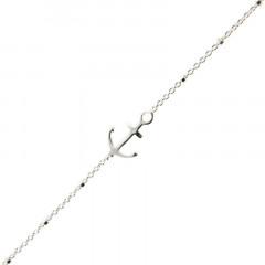 Bracelet Argent LA MER Ancre / Mini cube 18+2,5cm