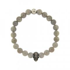 Bracelet Argent ANTIKA D8 - LASTIC T/Mort2 - Labradorite 8mm