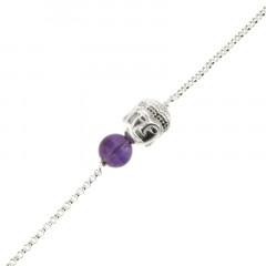Bracelet Argent CHAKRA N°7 - Bouddha/Améthyste 18+2cm