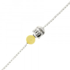 Bracelet Argent CHAKRA N°3 - Bouddha/Serpentine 18+2cm