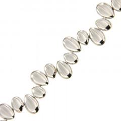 Bracelet Argent GALETS ondulés 18,5cm