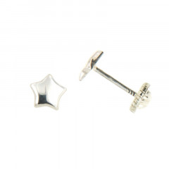 Boucles d'oreilles ETOILE Argent - Vis
