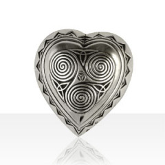 Broche Argent COEUR TRISKELL GM