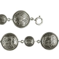 Bracelet Argent TRISKELL ROND PERLE 1/1