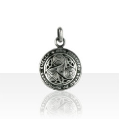 Pendentif Argent TRISKELL BOMBE