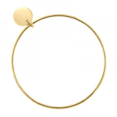 Bracelet Plaqué Or Jonc FR20-D63 - Médaille D15