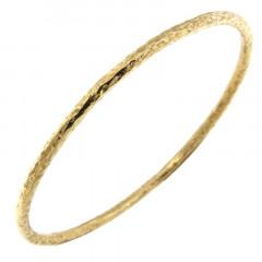 Bracelet Plaqué Or Jonc FR30-063 - Martelé