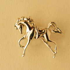 Pin's Plaqué Or CHEVAL REVERENCE