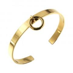 Bracelet Plaqué Or Jonc PLAK   6mm - Anneau