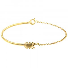 Bracelet Plaqué Or KHEOPS Semi-articulé FR20/Jas - Scarabée