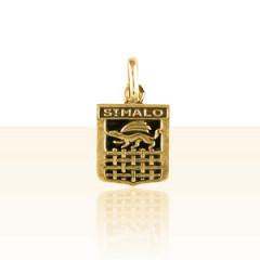 Médaille Plaqué Or ECUSSON ST MALO