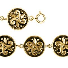 Bracelet Plaqué Or TRISKELL MASSIF