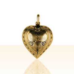 Pendentif Plaqué Or COEUR BOMBE TRISKELL PM