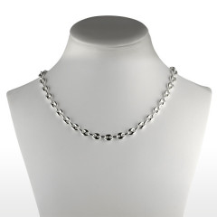 Collier Argent GRAIN DE CAFE 7mm - 55CM